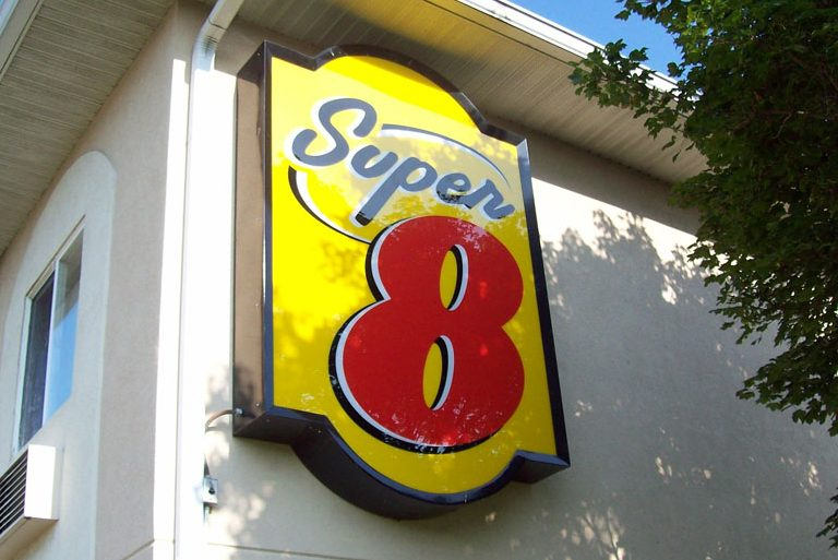 sign cabinet for super 8 motel in Indianapolis Indiana