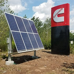 Cummins Solar Powered Monolithic Sign