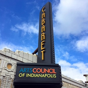 renovation of cabaret marqee sign in indianapolis