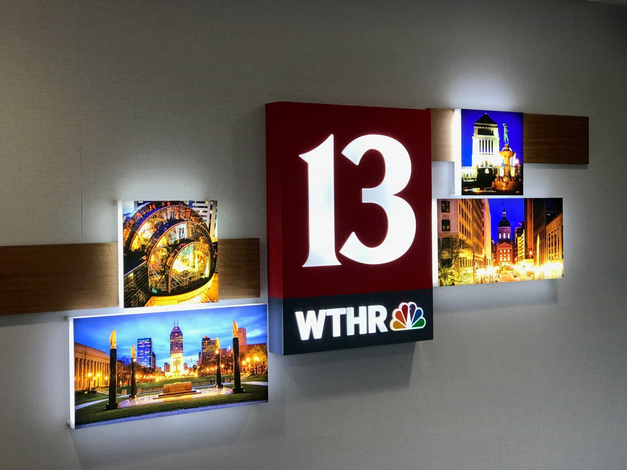 frosted acrylic interior lobby reception sign in Indianapolis
