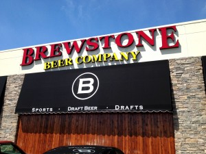 Face-lit channel letters for Brewstone Pub in Indianapolis