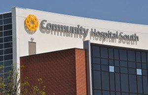 Face-lit channel letters for Community Hospital South