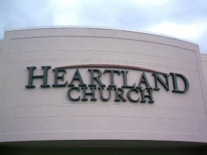 Face-lit channel letters for Heartland Church