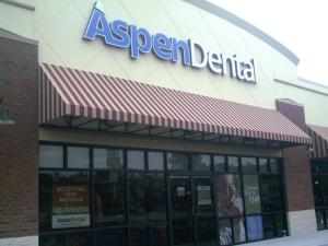Face-lit channel letters for Aspen Dental in Indianapolis