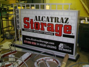 ground entrance sign alcatraz storage