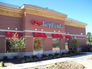 Face-lit channel letters for Key Bank in Indianapolis